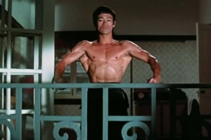 ブルース・リーの素晴らしく発達した筋肉
